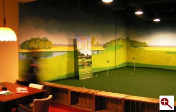 Malarstwo iluzjonistyczne w klubie golfowym Golflim w Hotelu Marriott w Warszawie