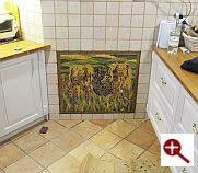 Mozaika dartystyczna z płytek ceramicznych