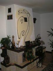 Artmur - Pracownia malarstwa ściennego - Sgraffito - kominek