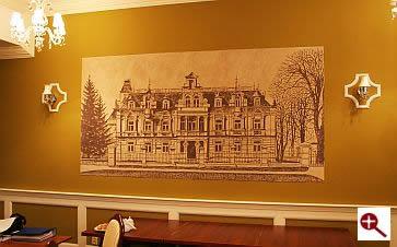 Artmur - Sgraffito - Pałac Buchholtzów w Hotelu Supraśl w Supraślu