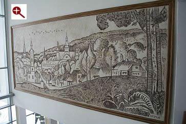Artmur - Sgraffito - Panorama Supraśla w Hotelu Supraśl w Supraślu