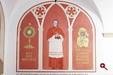 Artmur - Sgraffito - Błogosławiony Józef Bilczewski w wieczerniku Klasztoru Zakonu Paulinów na Jasnej Górze w Częstochowie
