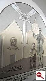 Artmur - Sgraffito - Bł. Edmund Bojanowski w wieczerniku Klasztoru Zakonu Paulinów na Jasnej Górze w Częstochowie