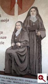 Artmur - Sgraffito - Błogosławiona Celina Borzęcka i Jadwiga Borzęcka w wieczerniku Klasztoru Zakonu Paulinów na Jasnej Górze w Częstochowie