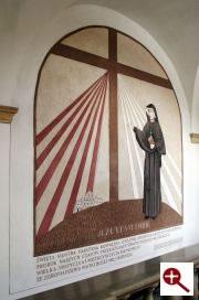 Artmur - Sgraffito - Św. Faustyna Kowalska w wieczerniku Klasztoru Zakonu Paulinów na Jasnej Górze w Częstochowie