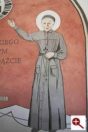 Artmur - Sgraffito - Św. Urszula Ledóchowska w wieczerniku Klasztoru Zakonu Paulinów na Jasnej Górze w Częstochowie