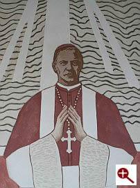 Artmur - Sgraffito - Św. Józef Sebastian Pelczar w wieczerniku Klasztoru Zakonu Paulinów na Jasnej Górze w Częstochowie