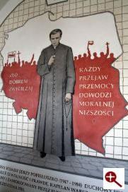 Artmur - Sgraffito - Błogosławiony ksiądz Jerzy Popiełuszko w wieczerniku Klasztoru Zakonu Paulinów na Jasnej Górze w Częstochowie