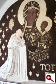 Artmur - Sgraffito - Błogosławiony Jan Paweł II w wieczerniku Klasztoru Zakonu Paulinów na Jasnej Górze w Częstochowie