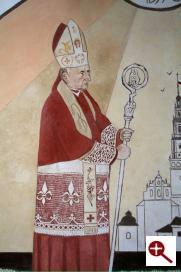 Artmur - Sgraffito - Kardynał Wyszyński w wieczerniku Klasztoru Zakonu Paulinów na Jasnej Górze w Częstochowie